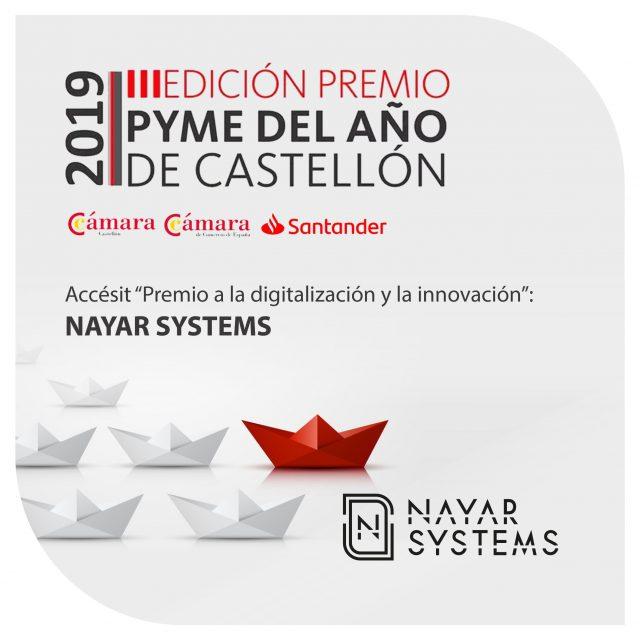 Nayar Systems es galardonada con un accésit en los Premios Pyme del Año 2019