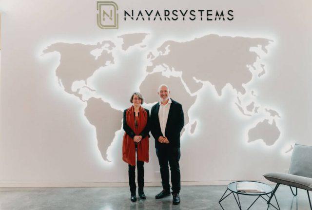 Eva Alcón, rectora de la Universitat Jaume I de Castelló, visita Nayar Systems Building, las oficinas de la tecnológica Nayar Systems