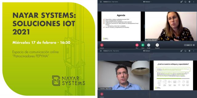 Nayar Systems presenta ante FEPYMA sus soluciones IoT de telemetría y telecontrol y de adaptación a la nueva normativa EN81-28